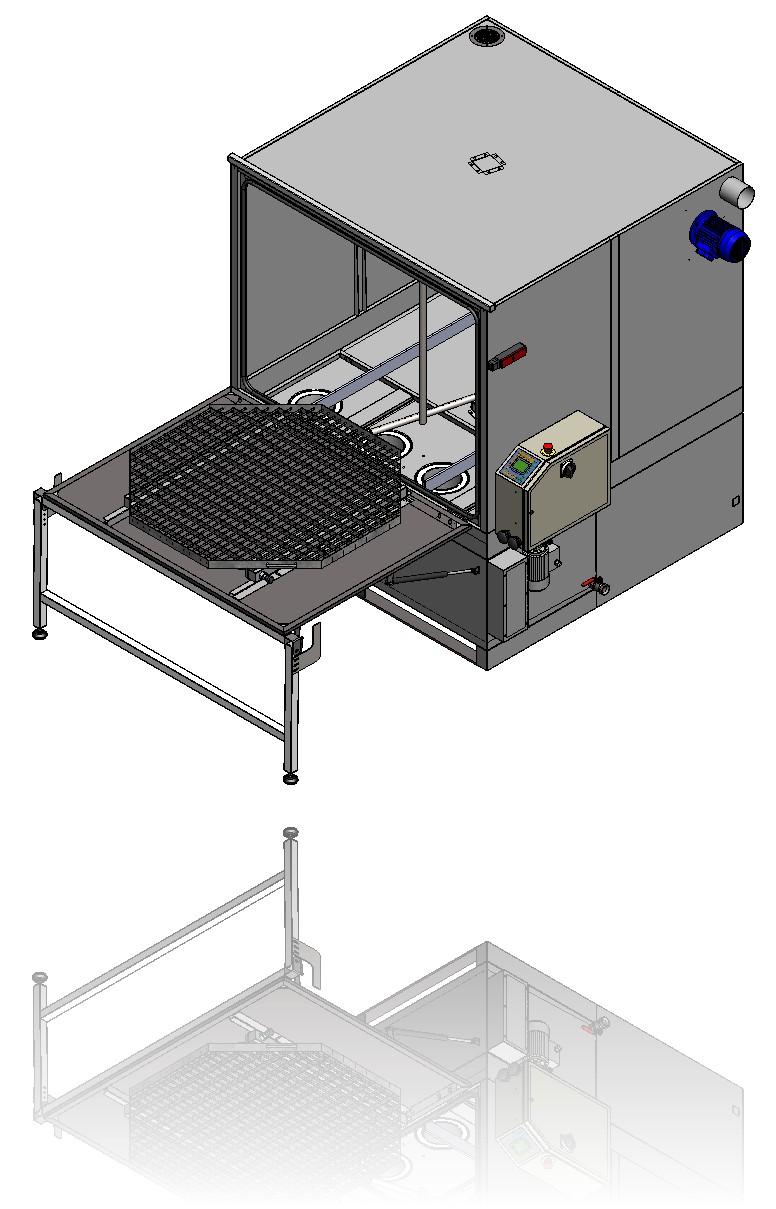 Blick auf die Plattform mit Be-/ und Entladebereich