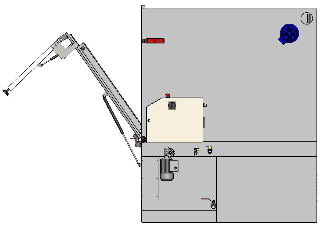 Rechte Seitenansicht – Türwinkel  60°